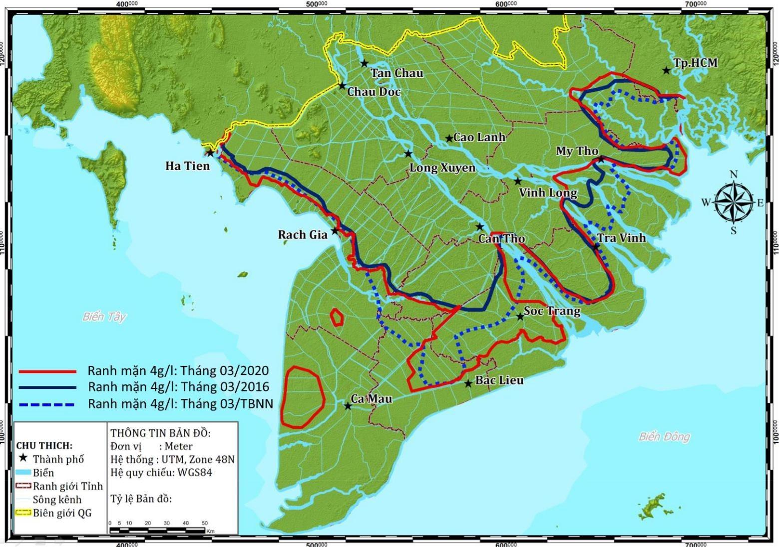 Đồng bằng sông Cửu Long tiếp tục đối mặt với hạn hán, xâm nhập mặn